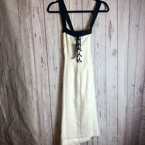 NWT RALPH LAUREN | White Laced Front Dress Size 4
